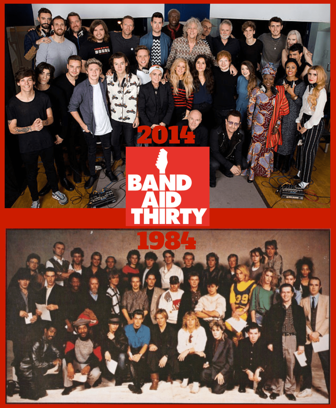 (Band Aid 30 - Do They Know It's Christmas? via tednguyenusa.com)