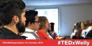TEDxWellington Salon #3 attendees watching a talk