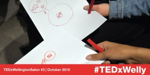 Collaborative drawings at TEDxWellington Salon #3