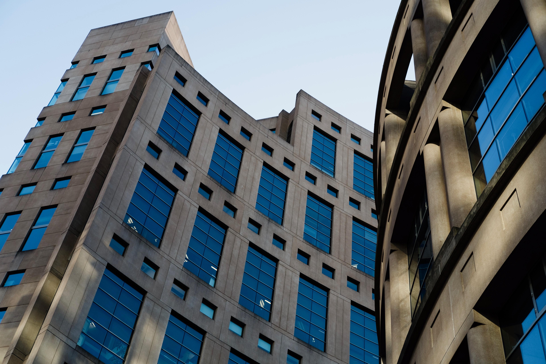VPL, Vancouver, Library, winter sun, windows, reflection, architecture