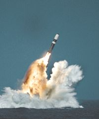 United States Trident II (D-5) missile underwater launch
