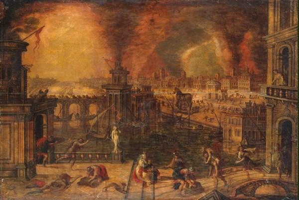 Fire_of_Troy_by_Kerstiaen de Keuninck (Coninck)