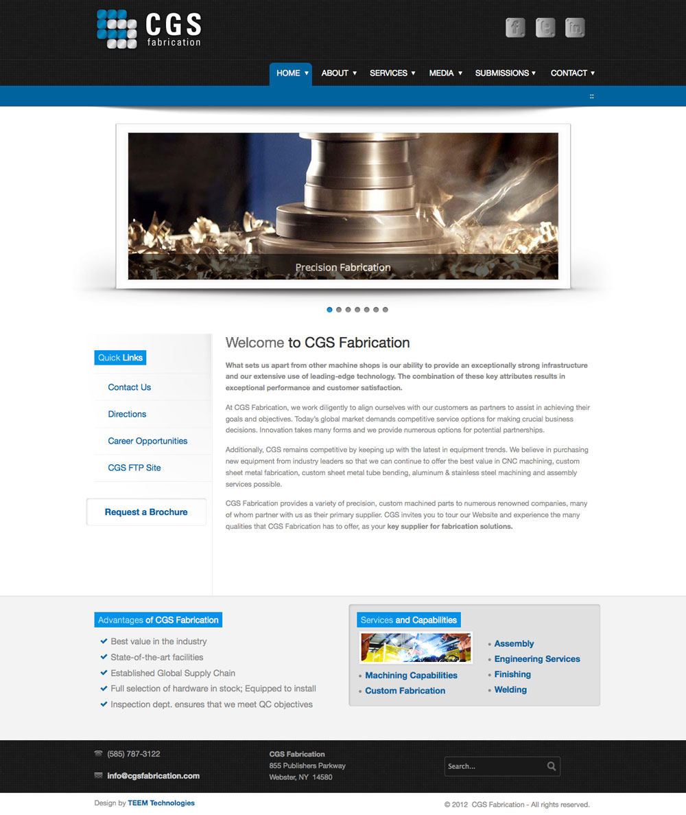 CGS Fabrication - Professional Web Design Company Rochester New York