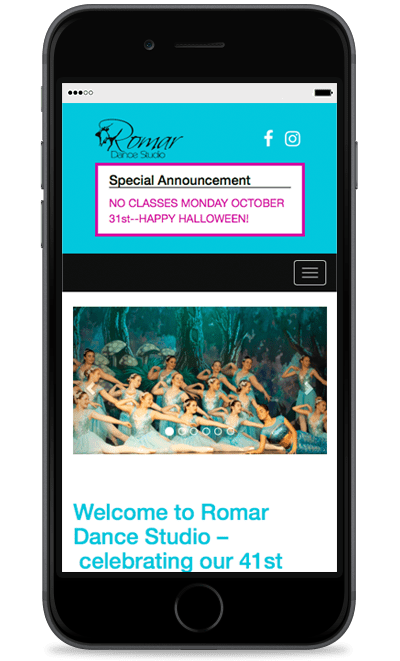 romardance-website-phone