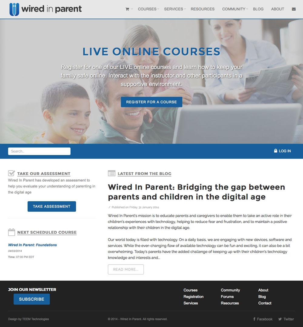 wiredinparent-website-home