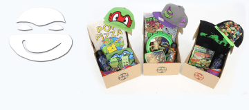 The TMNT Box is a perfect collection of Ninja Turtle gifts for the shellheads in your life. Image Source: TMNT Box.