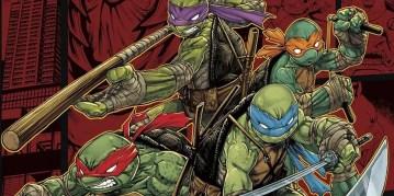 Artwork from the cover of Teenage Mutant Ninja Turtles: Mutants in Manhattan