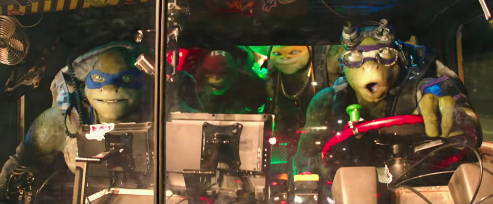 Screencap from a trailer for Teenage Mutant Ninja Turtles: Out of the Shadows. Source: Paramount Pictures.
