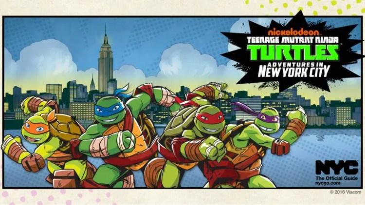 Comic style artwork used to introduce the Ninja Turtles as NYC's latest Family Ambassadors. Source: Viacom, NYCGO