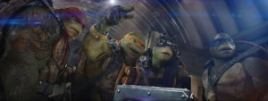 Left to right: Raphael, Michelangelo, Donatello and Leonardo in Teenage Mutant Ninja Turtles: Out of the Shadows from Paramount Pictures, Nickelodeon Movies and Platinum Dunes