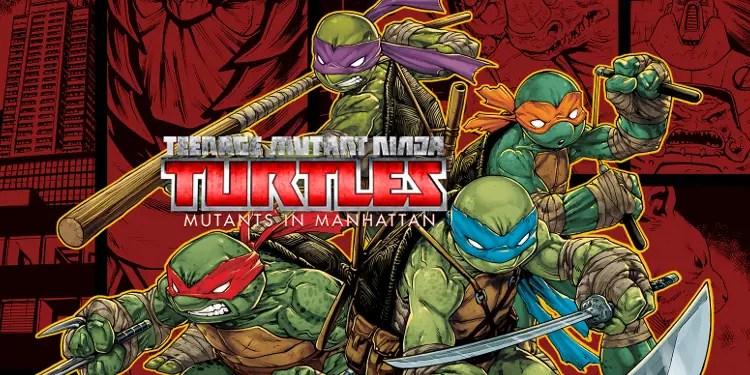Logo and artwork for Teenage Mutant Ninja Turtles: Mutants in Manhattan. Image Source: Activision, Platinum Games