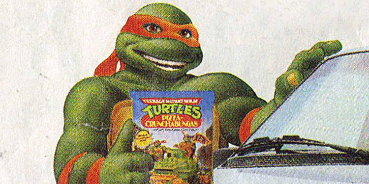 It looks like even Mikey got into the ad game with these retro TMNT commercials and advertisements! Image Source: Plymouth Ad.