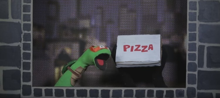 Nickelodeon's TMNT sock puppets are featured in this collection of Turtley Awesome Videos. Image Source: Nickelodeon.