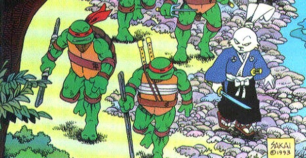 Miyamoto Usagi has a long history with the turtles, so he should be a perfect fit in Nick's TMNT series. Image Source: Fantagraphics Books.