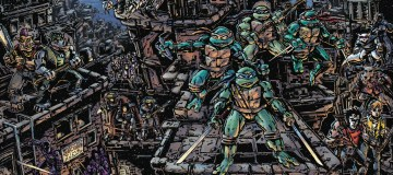 Alternate cover art for Teenage Mutant Ninja Turtles Universe, drawn by Kevin Eastman. TMNT Universe is definitely one of the high notes in a year of questionable progress for our heroes in a half shell. Image Source: IDW.