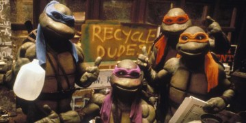 Recycling is cool, but it's also pretty cool to see the original Teenage Mutant Ninja Turtles movies for free! Image Source: New Line/Golden Harvest.