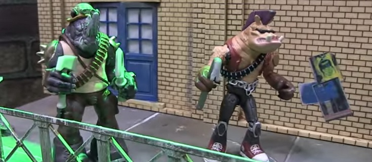 Bebop and Rocksteady are looking pretty good back in their original clothes! Image Source: Pixel Dan, Playmates Toys.