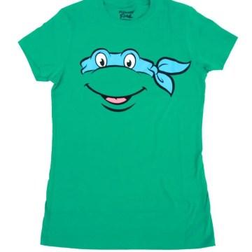 Ninja Turtles Character Faces Juniors T-shirt