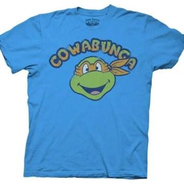 Ninja Turtles Michelangelo Cowabunga Blue Adult T-shirt