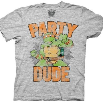 713608bf1 $22.00 Buy product · Ninja Turtles Michelangelo Party Dude Heather Gray T- shirt