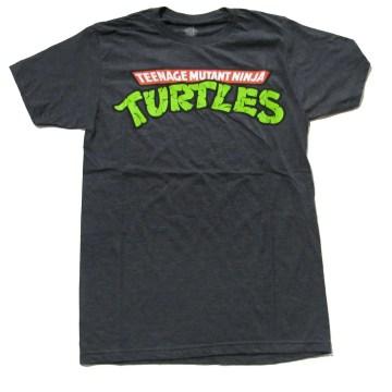 Teenage Mutant Ninja Turtles Logo Black T-Shirt