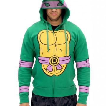 Ninja Turtles Character Costume Zip Up Hoodie