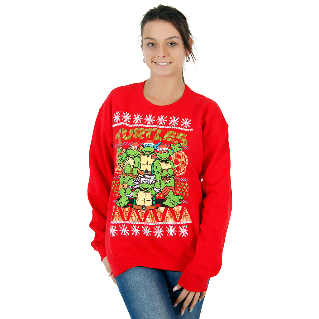 ninja turtles sewer red ugly christmas sweatshirt