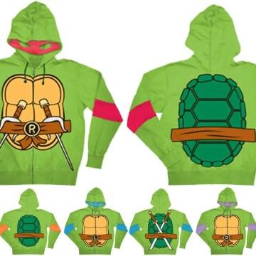 Classic Ninja Turtles Costume Hoodie w/ Detachable Eye Mask
