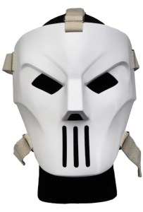As you can see, this full-sized Casey Jones Mask includes straps so that you can actually wear it. Image Source: NECAOnline.com