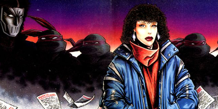 April's ethnicity hasn't always been the same. Even on this early cover art for issue #11 of Teenage Mutant Ninja Turtles, she is depicted as anything but a redhead. Image Source: Mirage Comics, IDW.