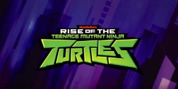 The new logo for Rise of the TMNT looks even more awesome with a purple background! Image Source: Nickelodeon.