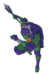 Donnie is wearing a lot more tech than usual in this iteration of the TMNT. Image Source: Nickelodeon.