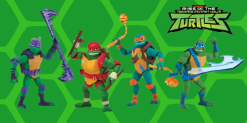 These are the first Rise of the TMNT action figures from Playmates Toys. Image Source: Playmates Toys, Nickelodeon.
