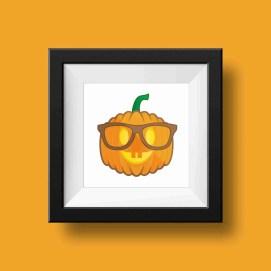 geek pumpkin print