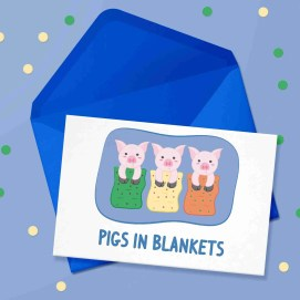 pigs in blankets card new