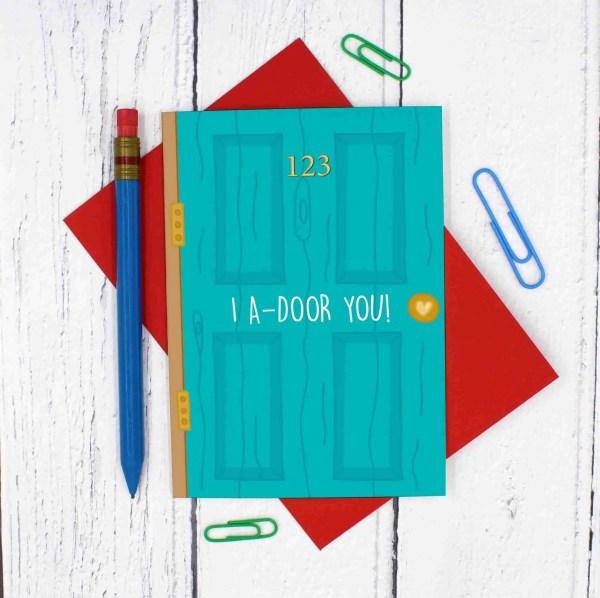 Door Pun Card Door Number Example