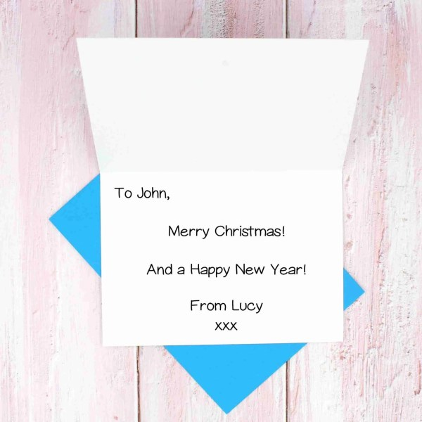 Christmas blue envelope message example