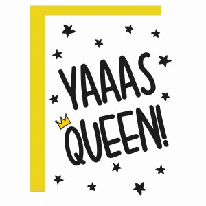 Graduation Card, Funny Pun Card, Card for Diva, Yas Queen Card, Yaaas Queeen Card, TePe Creations, Confetti Card, Funny Birthday Card, Congratulations Card, Blank Greetings Card, New Baby Card, Well Done Card, Ru Pauls Drag Race