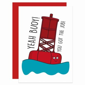 New Job Card, Funny Pun Card, Yeah Boy Card, Congratulations Card, Yeah Buoy Pun, Boat Pun Card, Confetti Card, TeePee Creations, Yeah Boi Card, Happy Card, Well Done Card, Card for Work, Card for Colleague