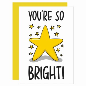 Star Pun Card, Funny Pun Card, Tee Pee Creations, Confetti Card, Driving Test Card, Congratulations Card, Well Done Card, Youre So Bright, Pass Exams Card, A Levels Card, GCSE Exams Card, SATs Exam Card, Graduation Card