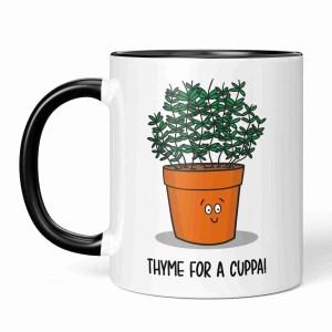 Funny Pun Mug, Thyme Pun Mug, Tea Lover Gift, Coffee Lover Gift, Yorkshire Slang, Northern Present, Brew Pun Mug, Christmas Present, Birthday Present, Housewarming Gift, TeePee Creations, Herb Pun Mug, Gift for Chef
