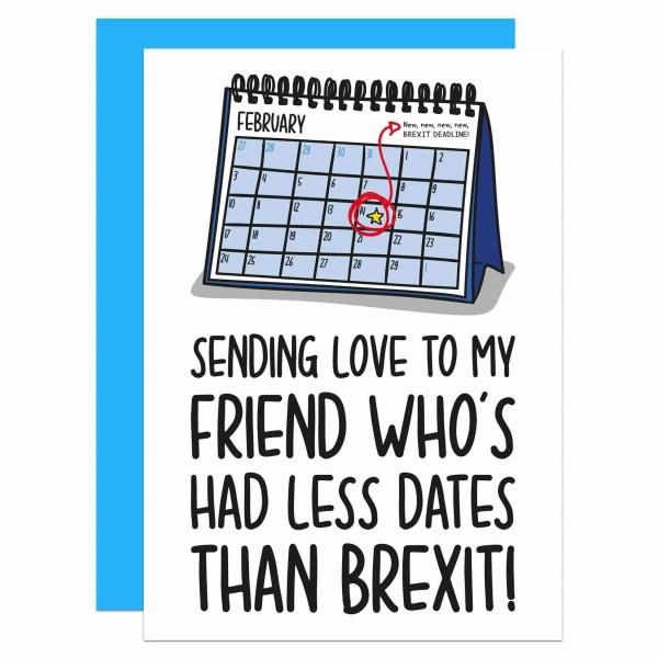 Galentines Day Valentines Funny Love Card TeePee Creations Confetti Funny Brexit Political Joke European Union Boris Johnson Single Awareness Jeremy Corbyn Best Friend Theresa May EU UK Parliament Illustration Fun