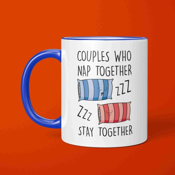 Funny Pun Mug, Couples Who Mug, Valentines Day Gift, Anniversary Gift, Napping Couples Mug, Snoring Gift, Couples Goals, Nap Together GIft, Sleep Together Gift, Drooling Present, Gift for Boyfriend, Gift for Girlfriend, Bed Present
