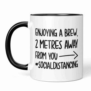Social Distance Mug, Social Distancing, Stay Away, Introvert Mug, Funny Gift, Corona Virus, Pandemic Mug, Self Isolation, TeePee Creations, Cheeky Present, Enjoy a Brew, Coffee Joke Mug, Birthday Present, Work Gift, Office Present