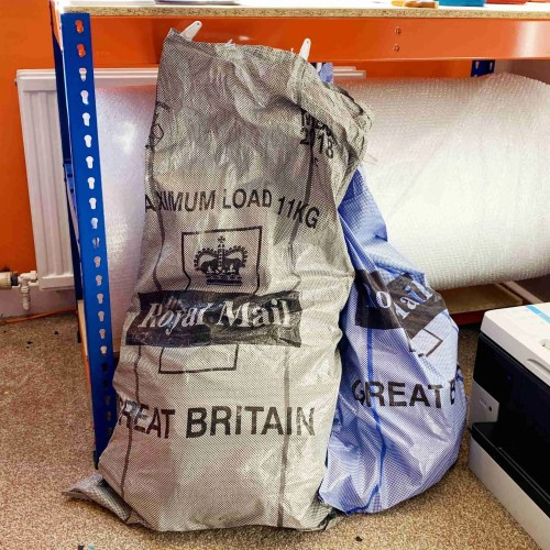royal mail bags of orders