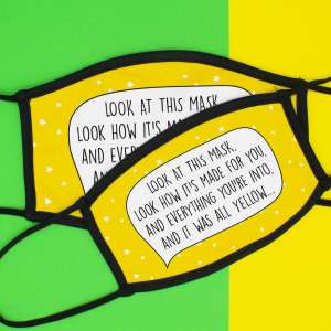 Coldplay Pun Mask, All Yellow Lyrics, All Yellow Pun Mask, Funny Gift, Quarantine Gift, Face Covering, Face Mask, TeePee Creations, Music Lover Mask, Star Print Mask, Lockdown Present, Self Isolation, Song Lyrics Mask