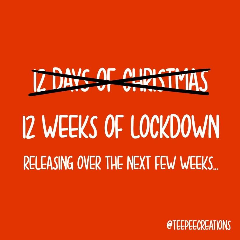 12 weeks of lockdown christmas cards