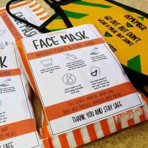 face mask covering instructions