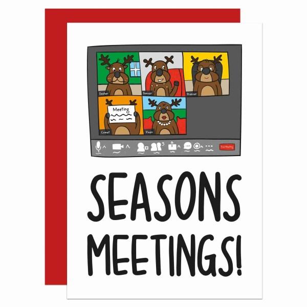 Pun Christmas Card, Funny Card, Lockdown Card, Team Meeting Card, TeePee Creations, Confetti Card, Zoom Quiz Call Card, Work Colleague Card, Boris Johnson Card, Social Distancing, Reindeer Card, Employee Card, Business Card