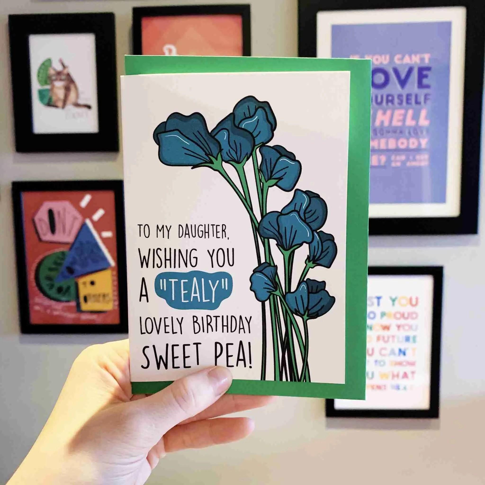 Tealy card